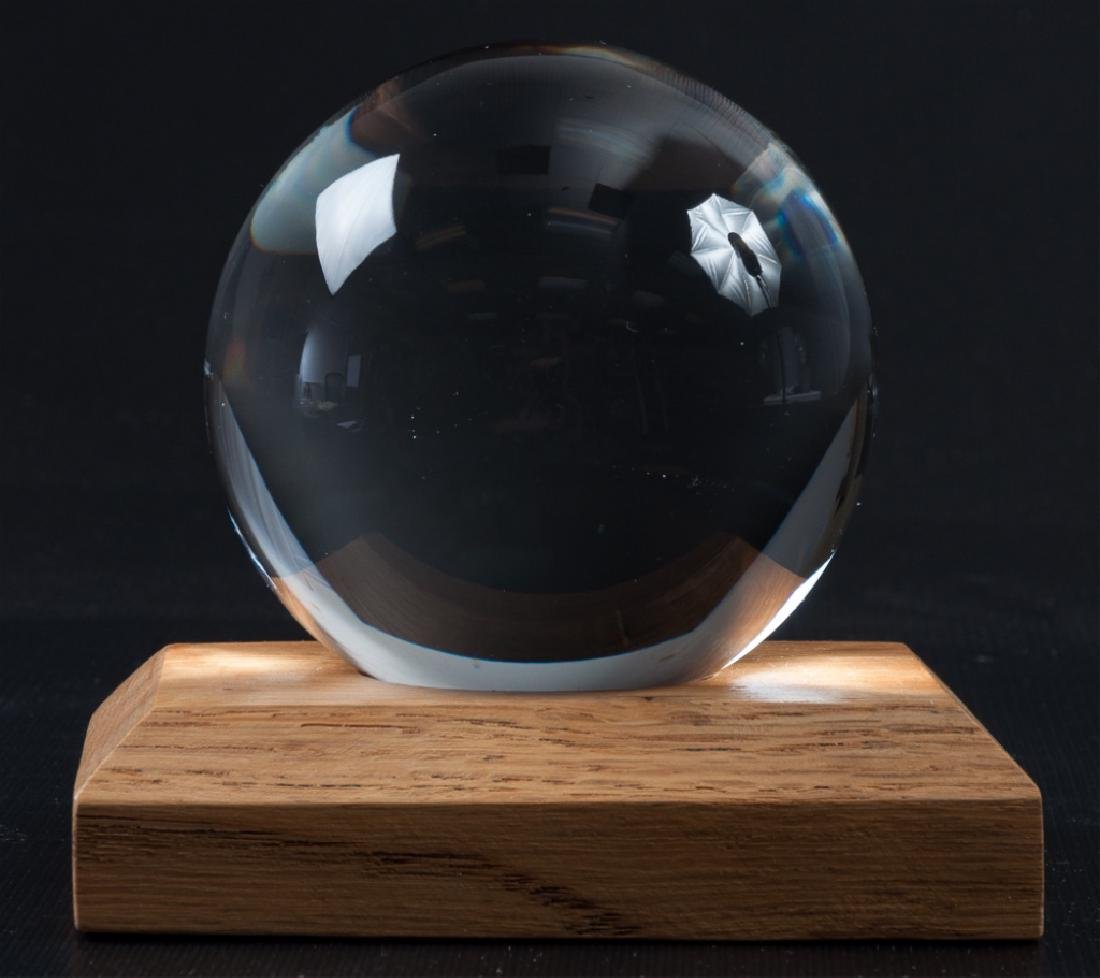 Glass Sphere on Stand