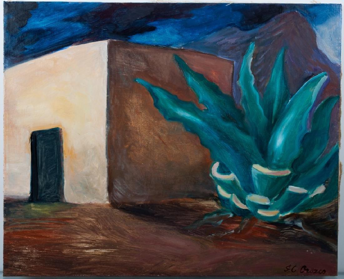 Jose Clemente Orozco Landscape Oil On Canvas