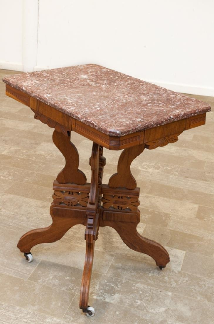 Eastlake Style Marble Top Table