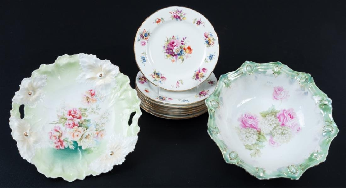 R. S. Prussia Bowl & Hammersley China, 8 P.