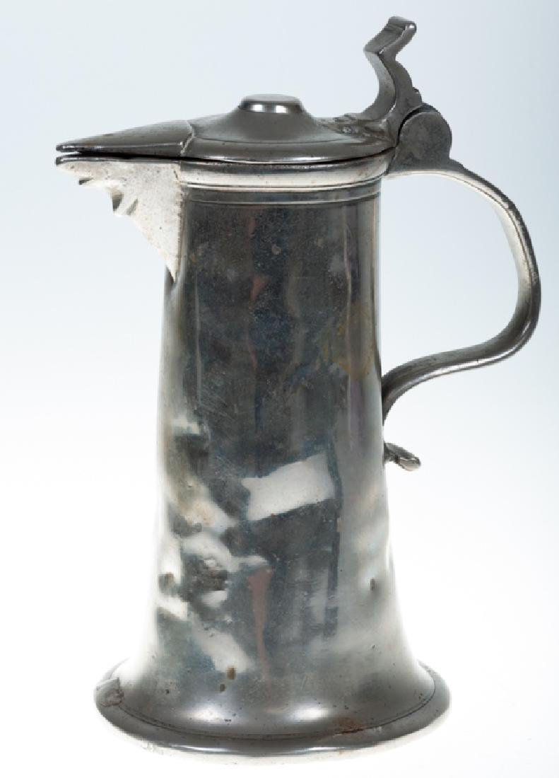 18th C Pewter Flagon