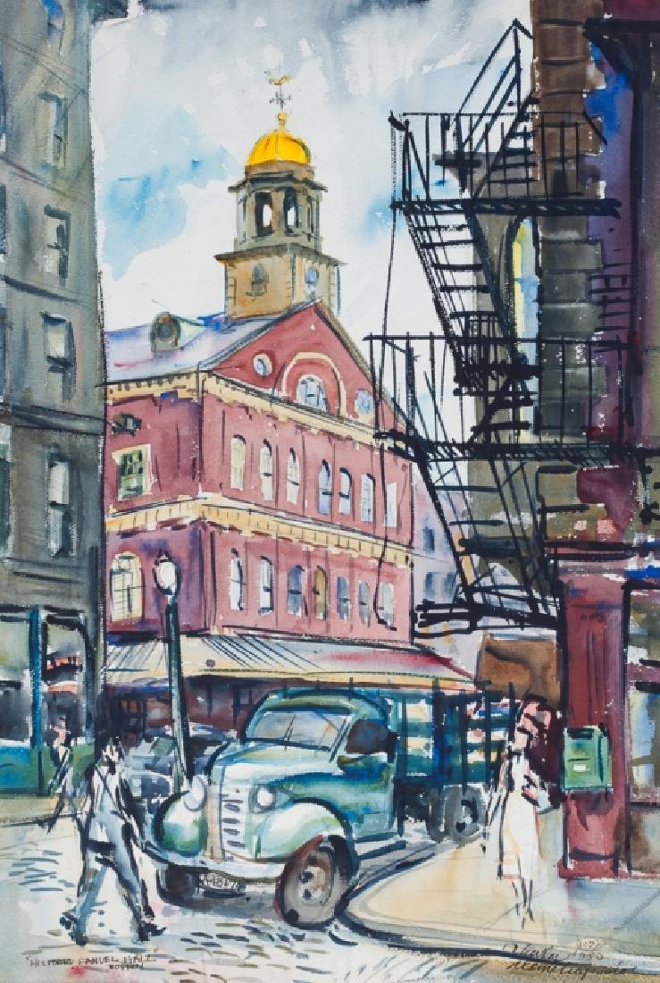 C. Demetropoulos Boston Fanuel Hall Watercolor
