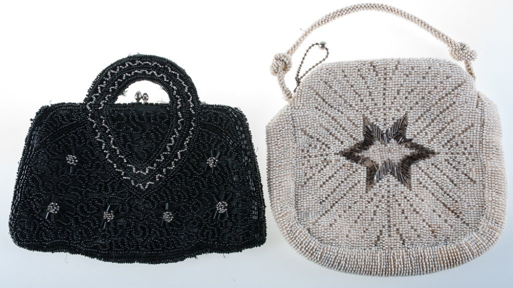 Vintage Seed Beaded Evening Bags Duo