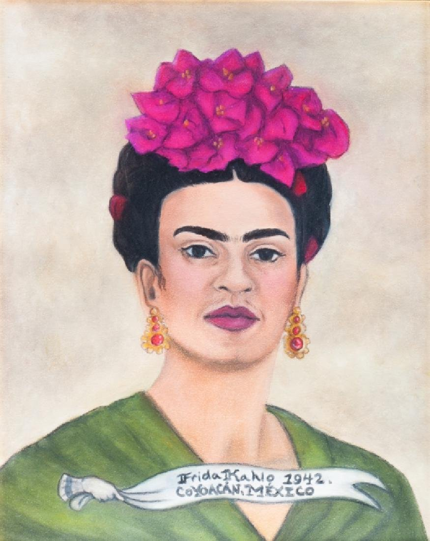 "Kahlo ""Autorretrato"" 1942 Colored Pencil Drawing"