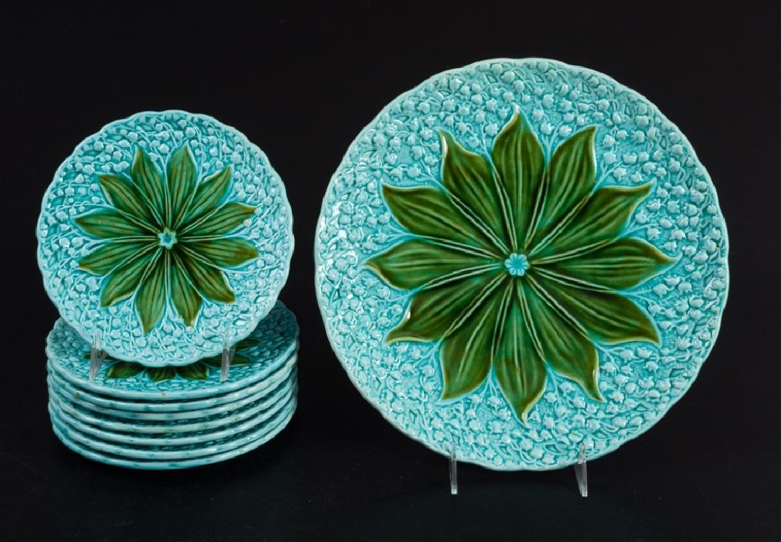 Schramberg Majolica Lily of the Valley Plates
