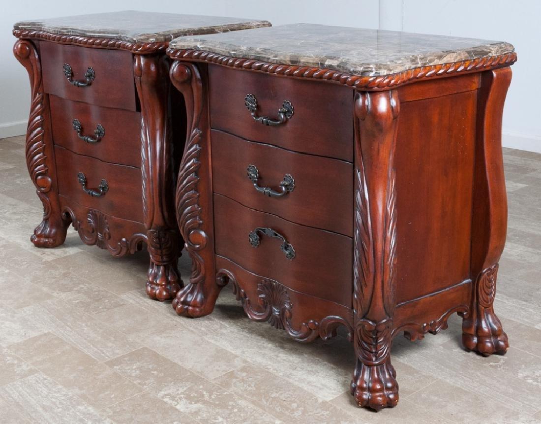 Stevens Furniture Stone Top Nightstands Pair