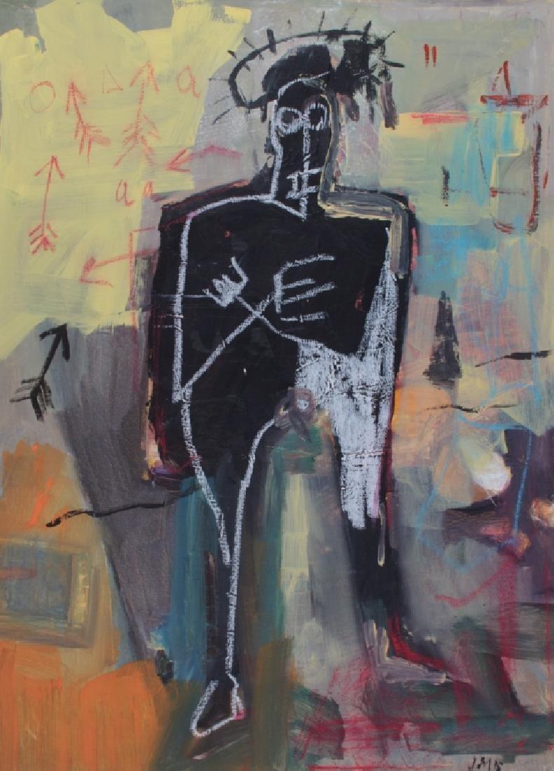Basquiat Mixed Media on Canvas