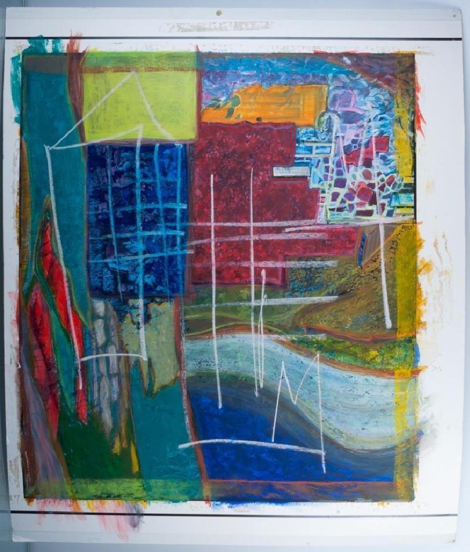 Jean-Michel Basquiat Acrylic & Oil Stick On Paper