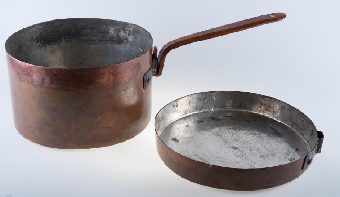 Copper Lidded Pot w/ Handle, 19th Century