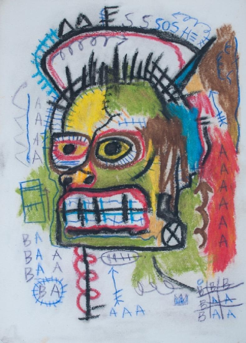 Basquiat Framed Mixed Media