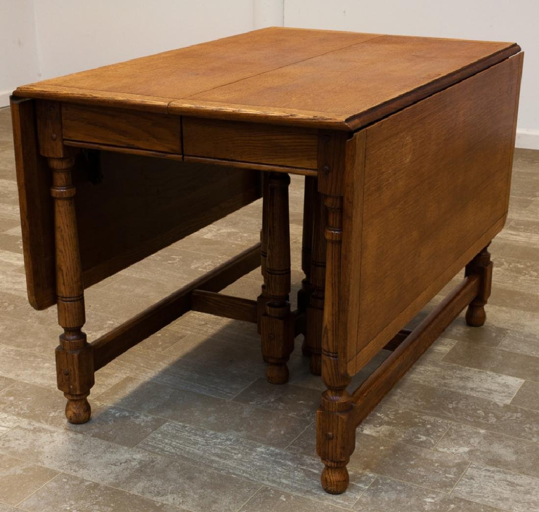 Oak Drop Leaf Dining Table