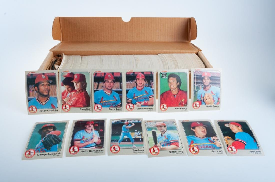 1983 Fleer Hand Collated Baseball Cards