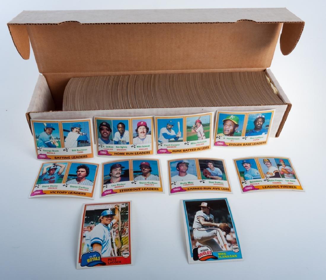 1981 Topps Hand Collated Baseball Cards