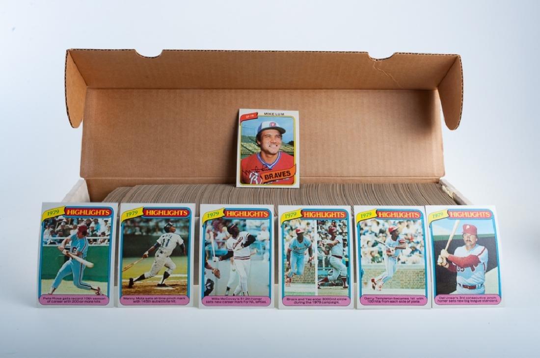 Topps 1980 Hand Collated Baseball Cards
