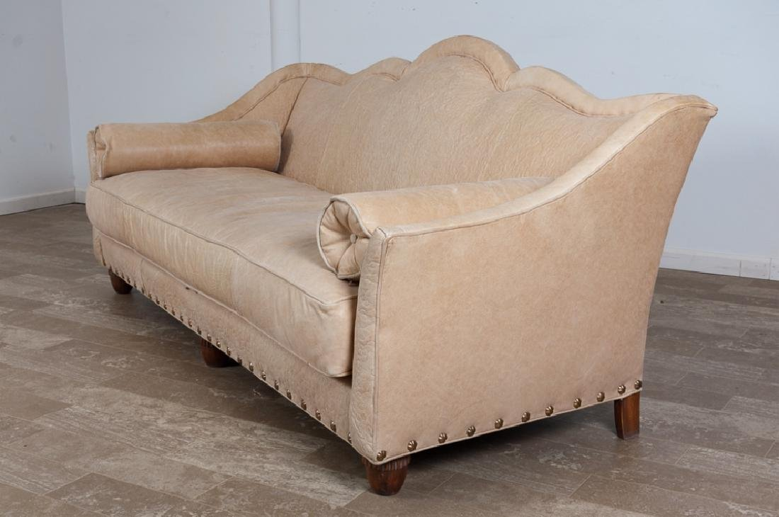 Old Hickory Tannery Marquis Divan Leather Sofa