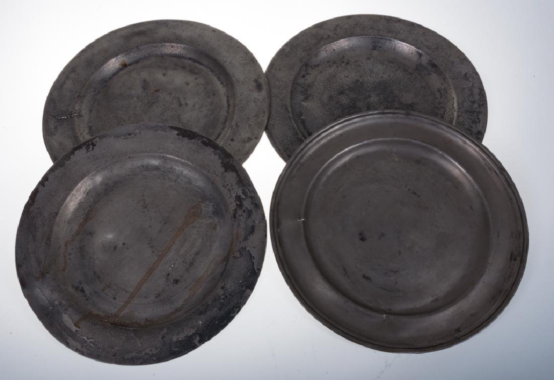 English Pewter Plates Group