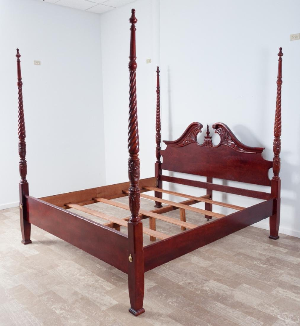 King Size Mahogany Poster Bed