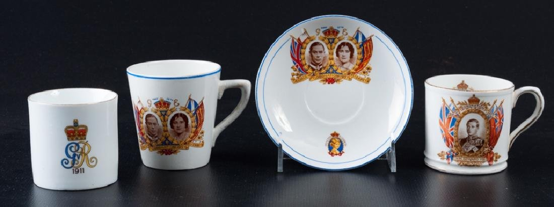 English Coronation Commemorative Cups & Saucer