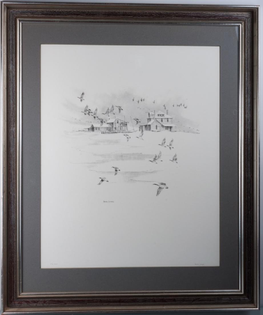 Herb Jones Winter Scene Signed Print