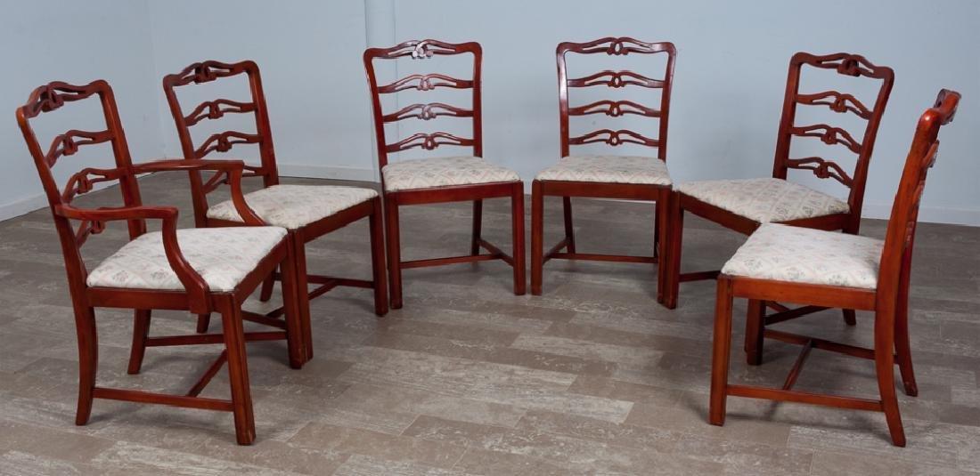 Mahogany Sheraton Style Dining Chairs, 6 P.