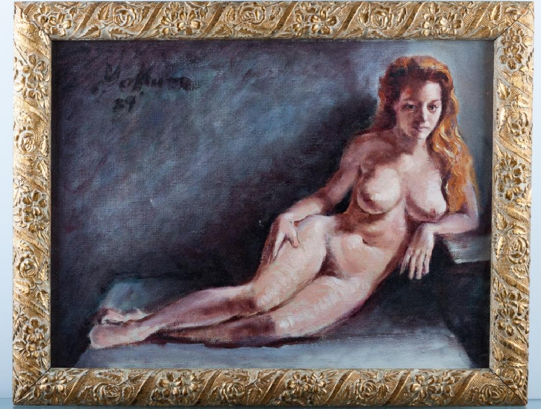 Peter Yokum Nude Portrait Oil on Canvas Painting