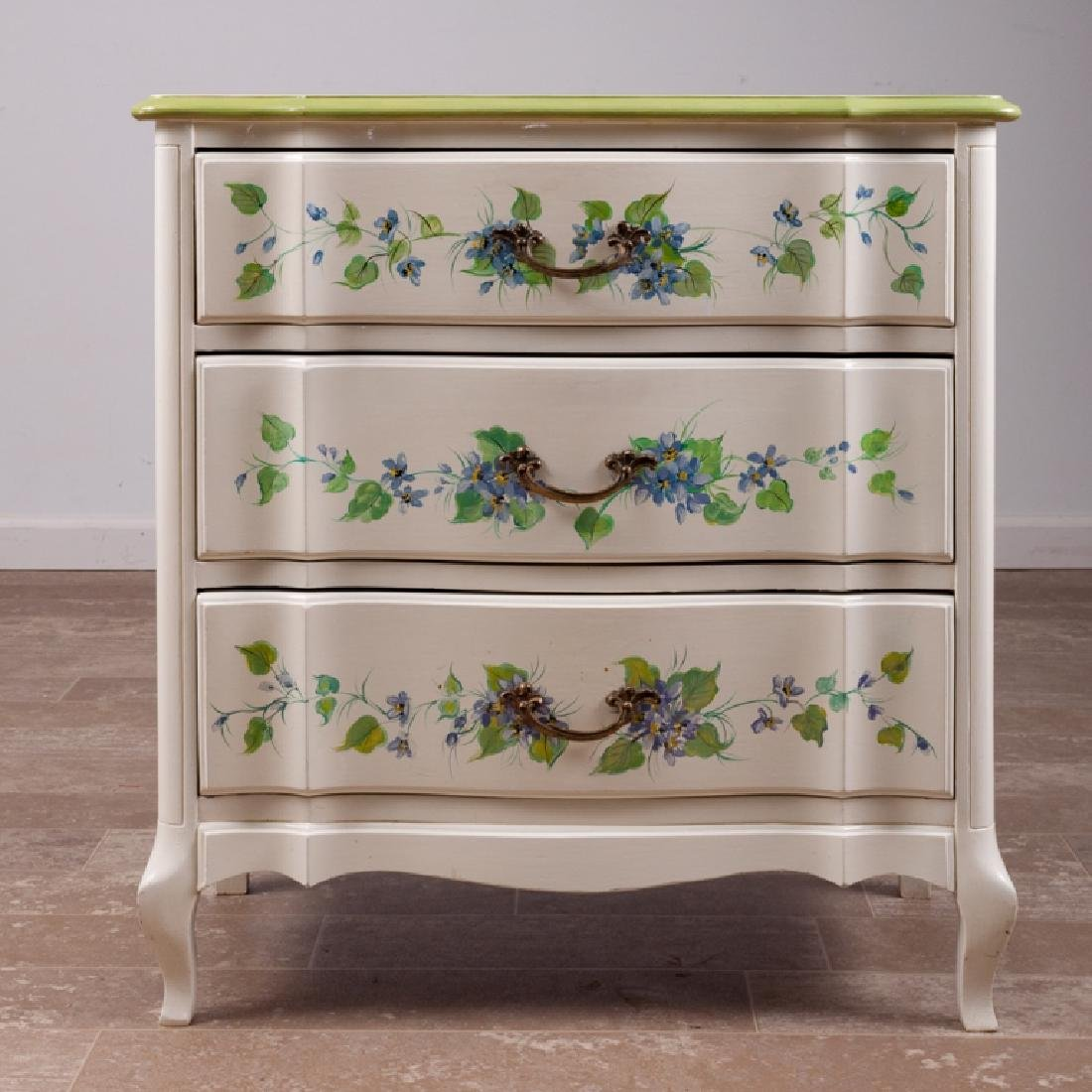 French Provincial Style Three-Drawer End Table