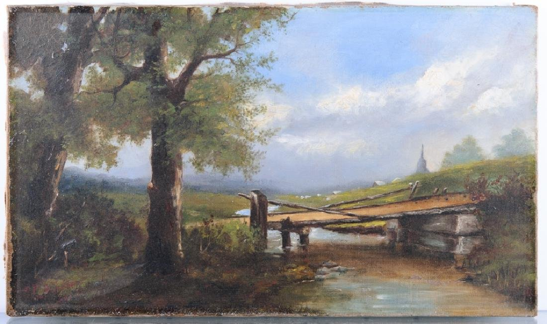 C.A. Foster Oil on Canvas Painting - 2