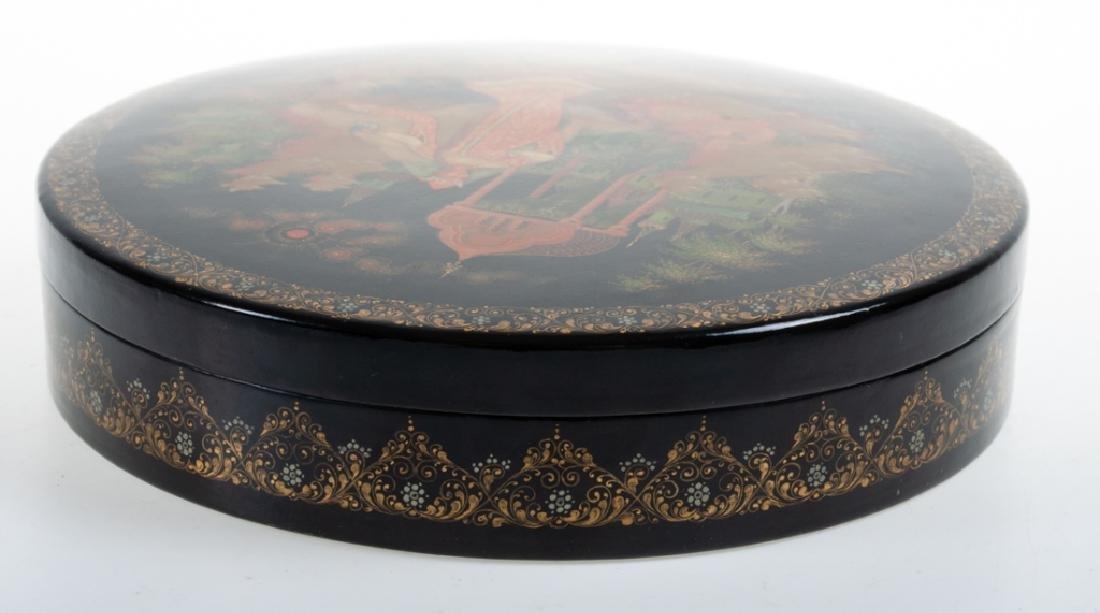 Palekh Russian Lacquer Box - 4