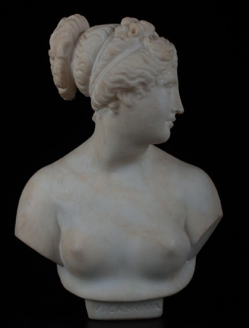 V. Canova Marble Bust of Venus or Diana 19th C - 2