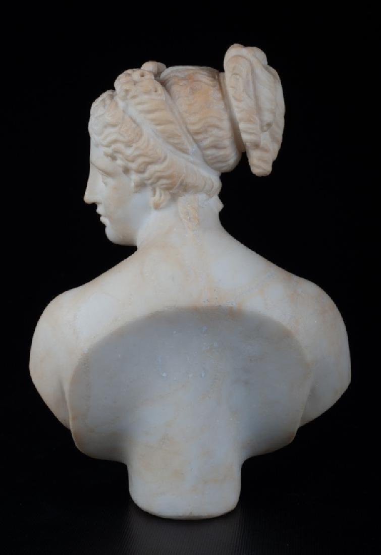 V. Canova Marble Bust of Venus or Diana 19th C - 4
