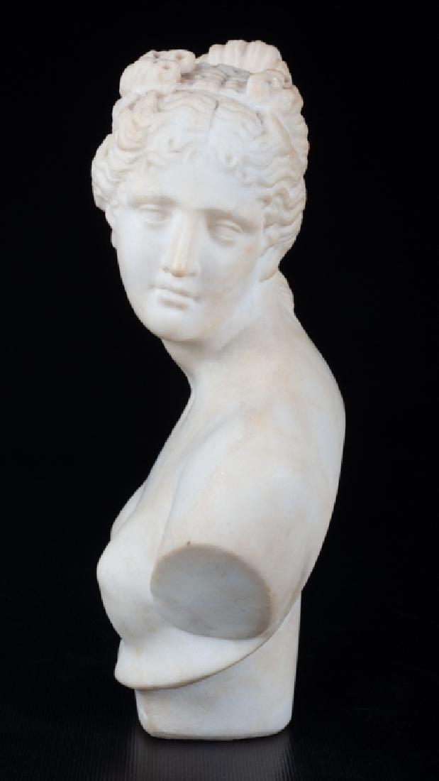 V. Canova Marble Bust of Venus or Diana 19th C - 5