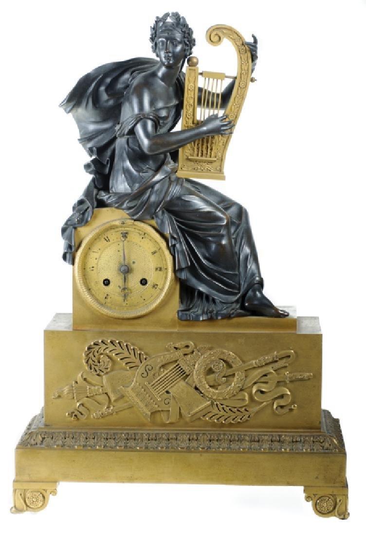 Napoleonic Era Bronze Mantle Clock - 2