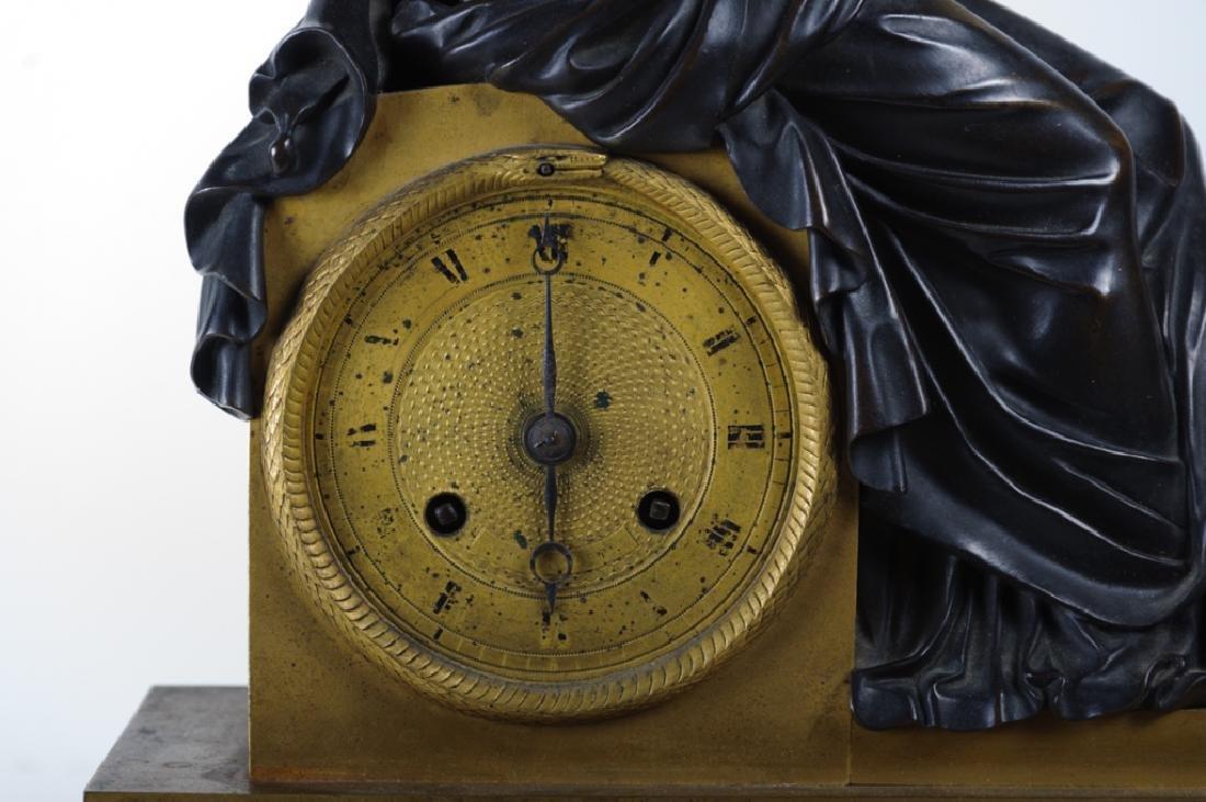 Napoleonic Era Bronze Mantle Clock - 3