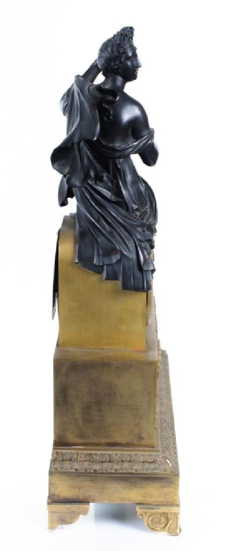 Napoleonic Era Bronze Mantle Clock - 4