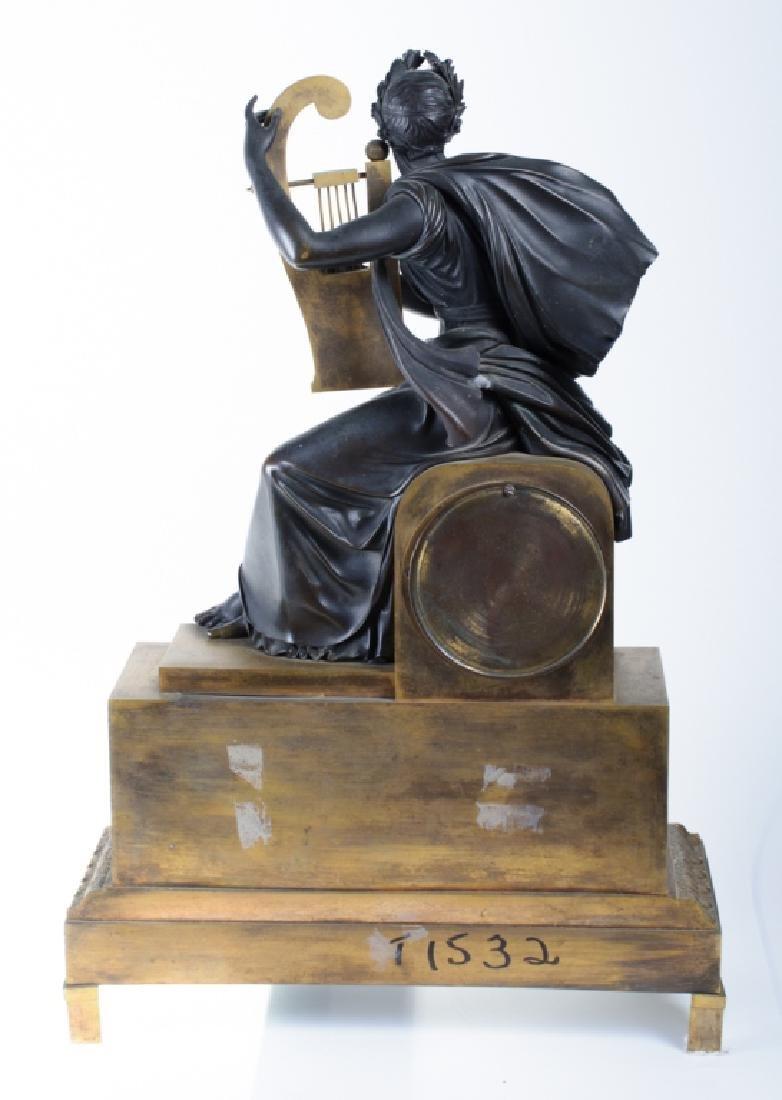 Napoleonic Era Bronze Mantle Clock - 5