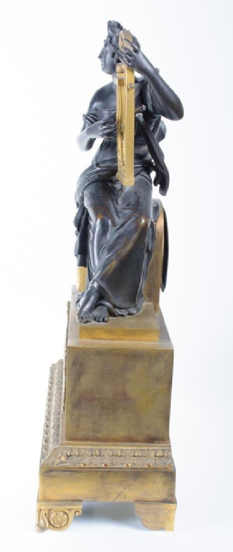 Napoleonic Era Bronze Mantle Clock - 6