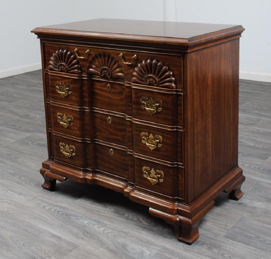 Chippendale Style Cherry Block Front Chest