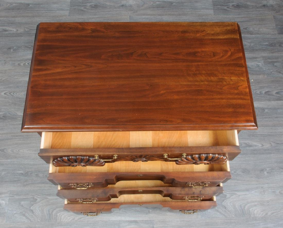 Chippendale Style Cherry Block Front Chest - 3