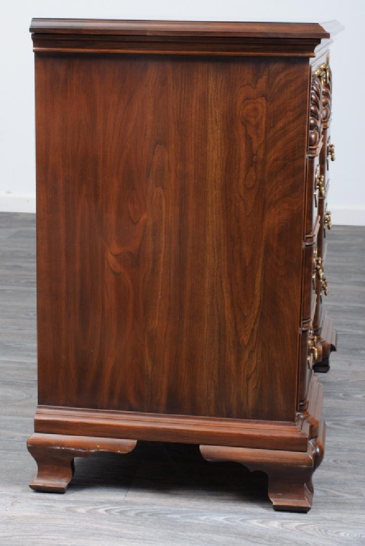 Chippendale Style Cherry Block Front Chest - 6