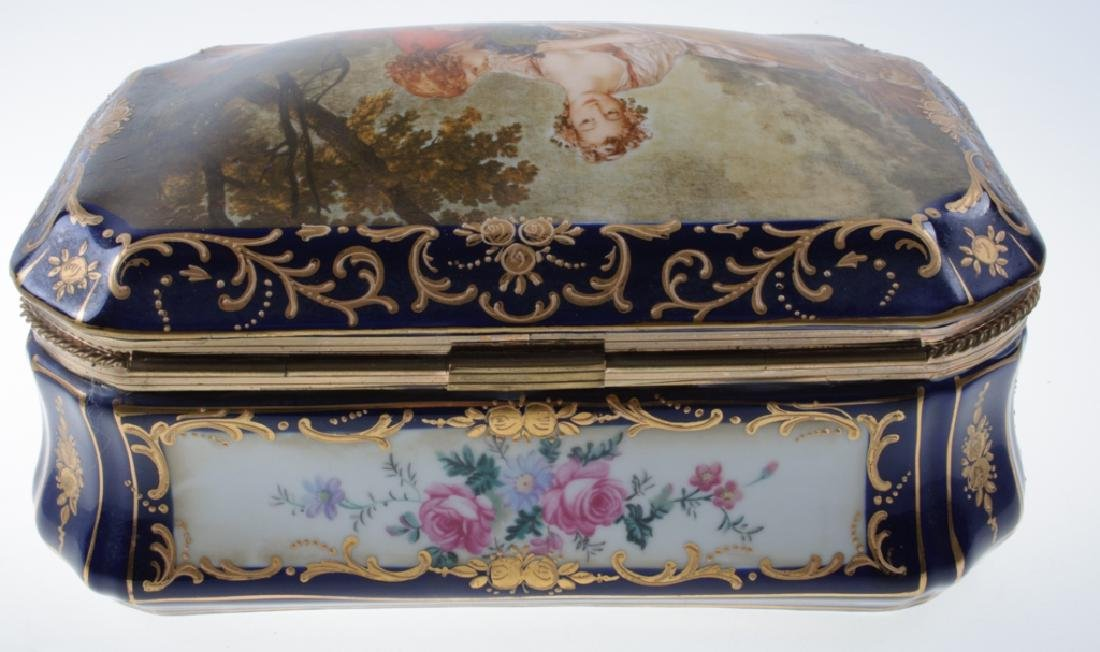 Continental Painted Porcelain Box - 6