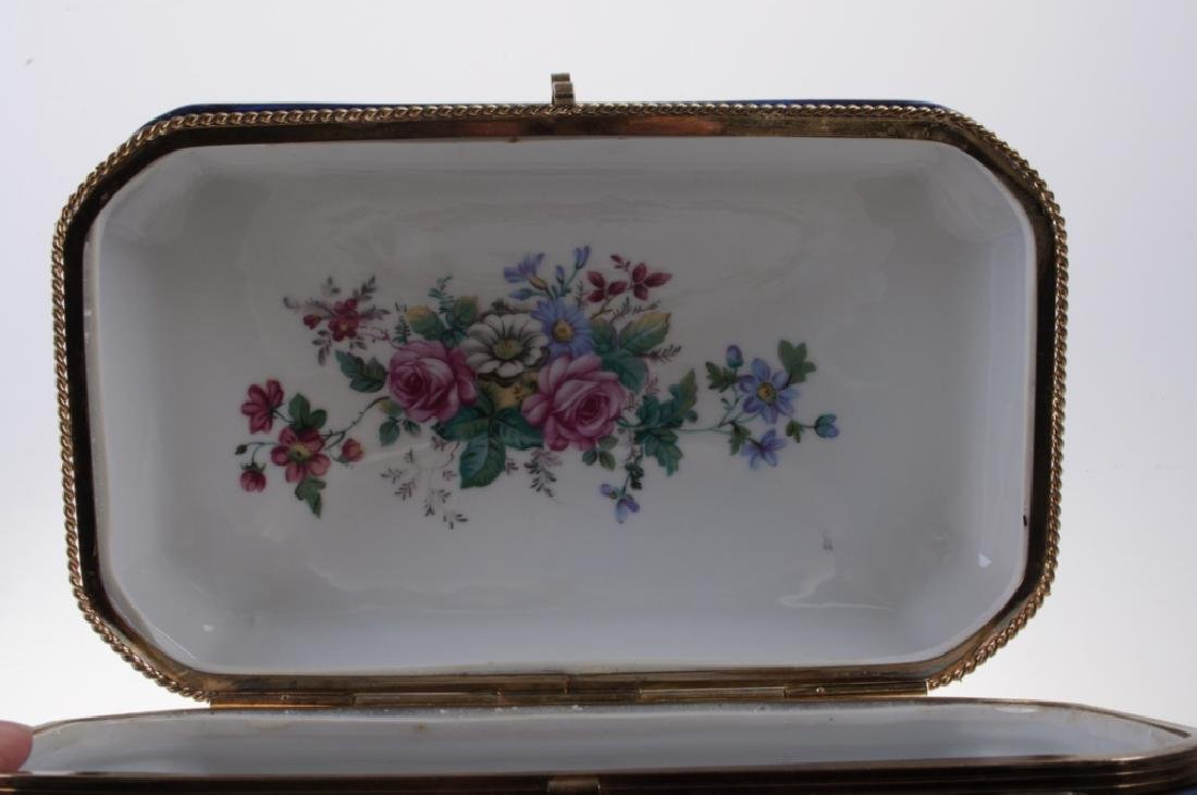 Continental Painted Porcelain Box - 8