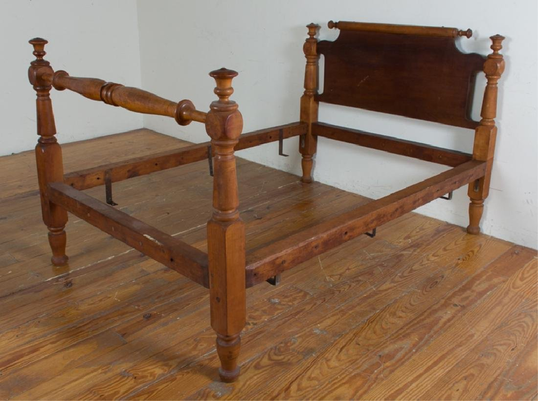 Maple Rope Rolling Pin Bed, Converted Full Size