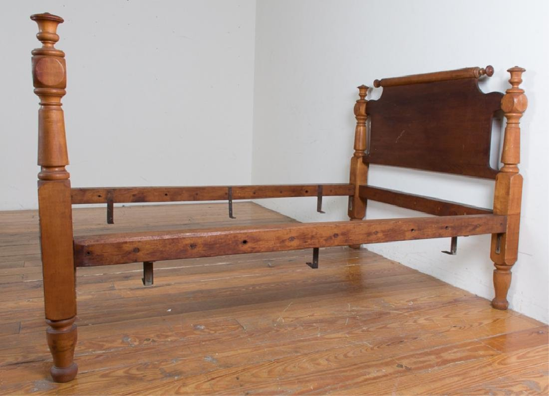 Maple Rope Rolling Pin Bed, Converted Full Size - 5