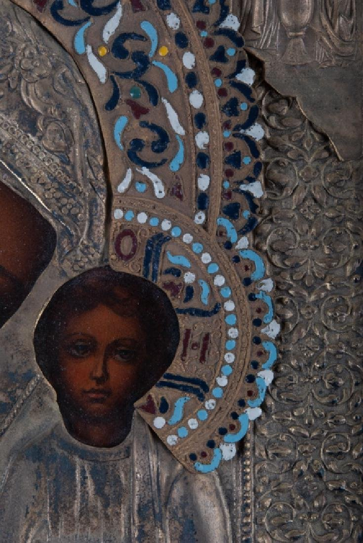 Icon of Madonna and Child 19th C - 2