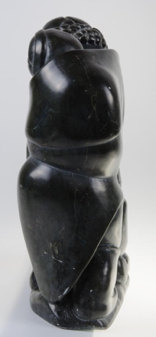 Inuit Stone Carving of a Woman and Child - 6