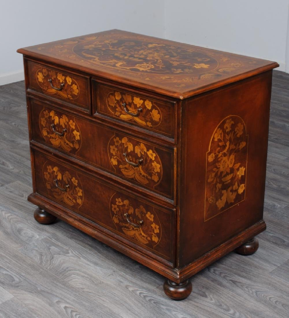 Jacobean Style Marquetry Chest of Drawers