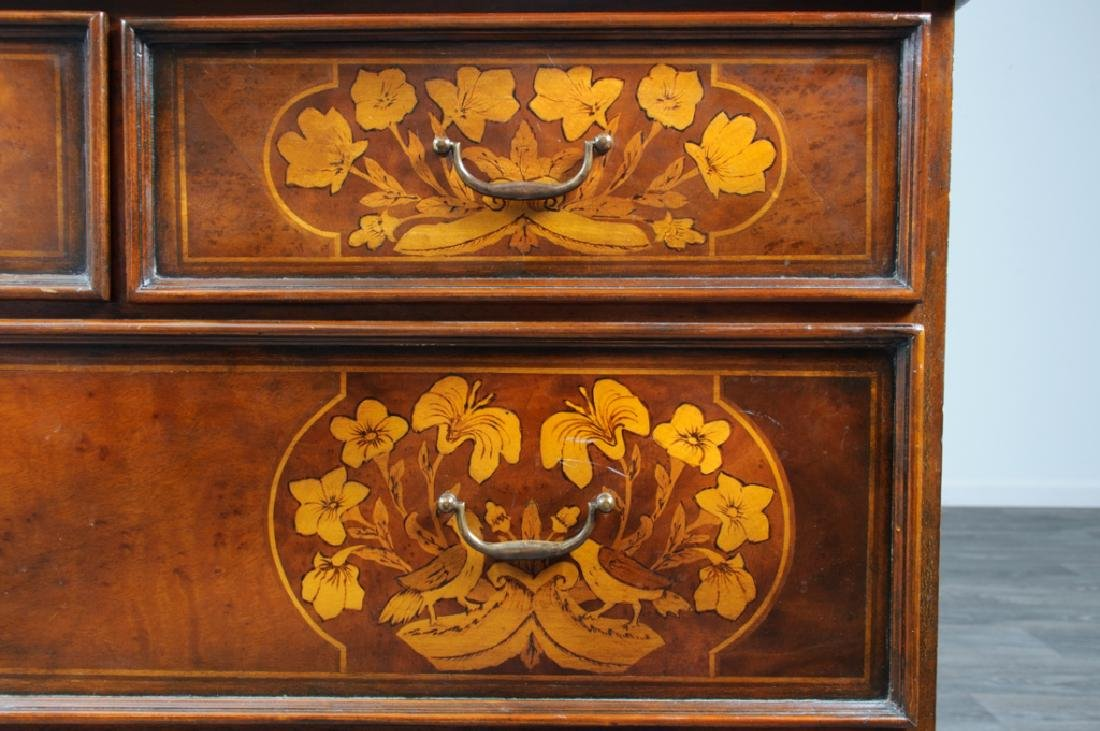 Jacobean Style Marquetry Chest of Drawers - 3