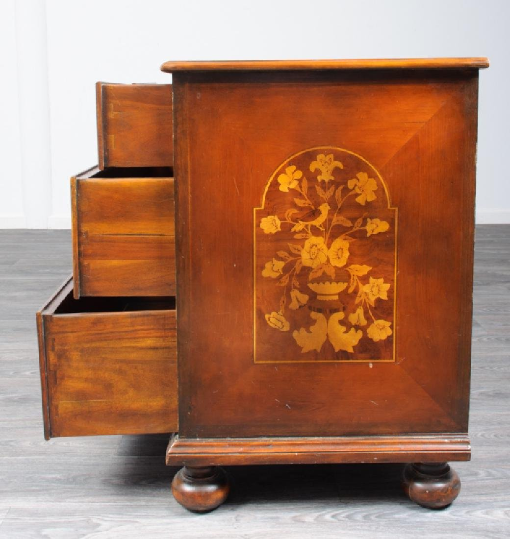 Jacobean Style Marquetry Chest of Drawers - 5