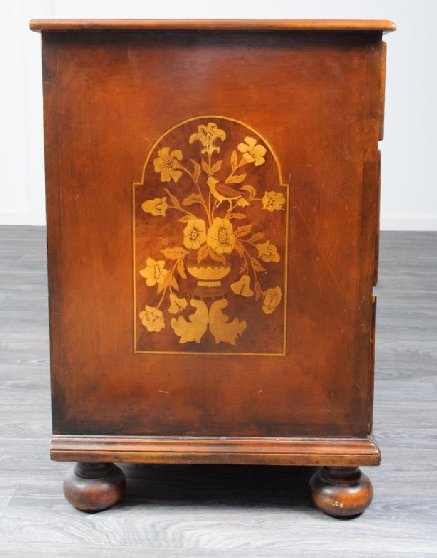 Jacobean Style Marquetry Chest of Drawers - 7