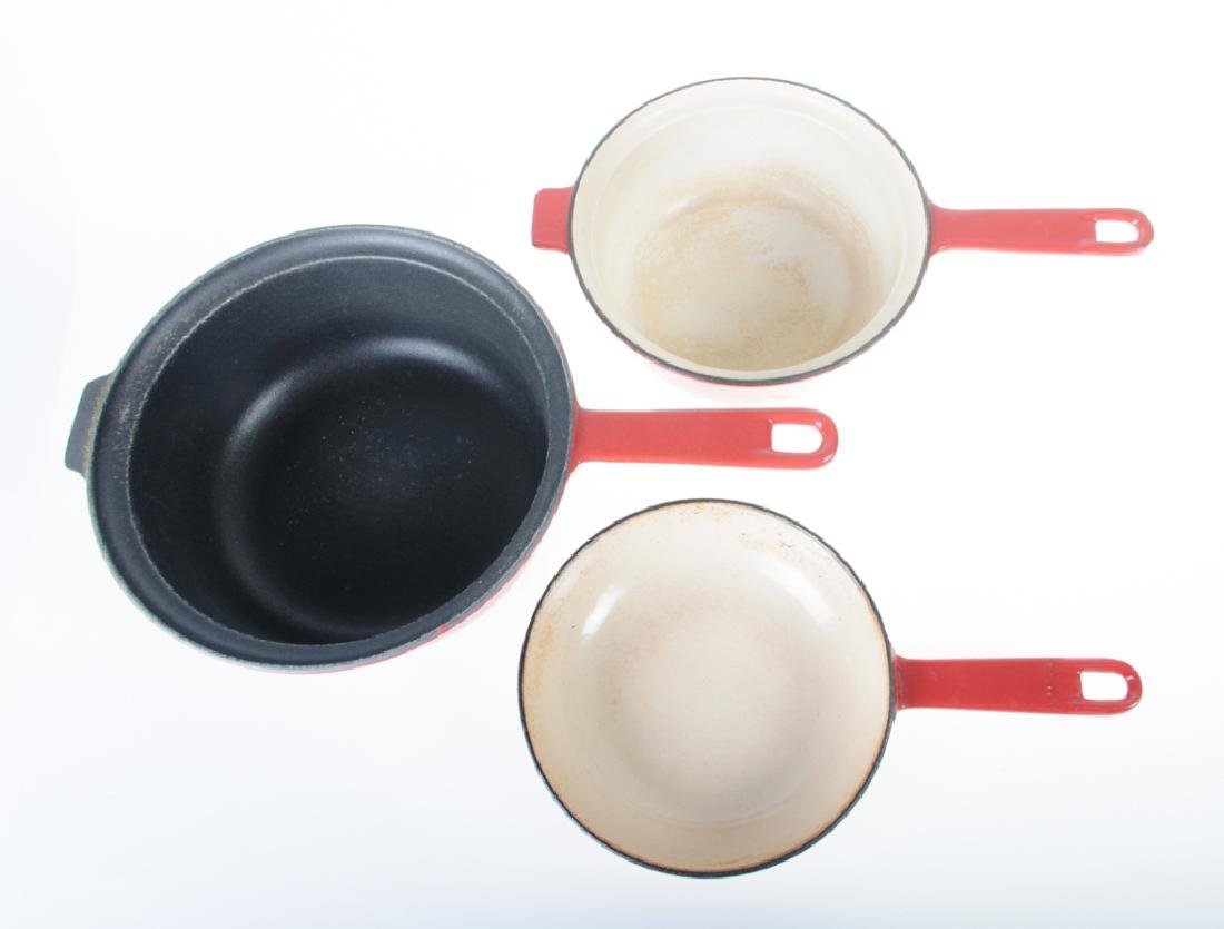 Le Creuset Sauce Pan & Two-In-One Pan - 3